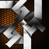 Orange and Metal Geometric Background — Stock Photo