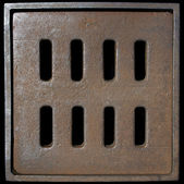 Metal Manhole — Stock Photo