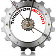 Time for Action - Metallic Gear — Stock Photo
