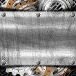 Industrial Gears Metal Background — Stock Photo