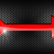Red Arrow on Black Background — Stock Photo