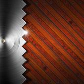 Trä och metall bakgrund - begreppet snickeri — Stockfoto