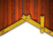 House Background - Wood Meter Tool — Stock Photo