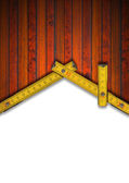 House Background - Wood Meter Tool — Zdjęcie stockowe