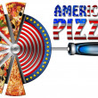 American Pizza on Cutter for Pizza — Stock Photo #26668421