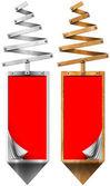 様式化されたクリスマス ツリー垂直バナー — ストック写真