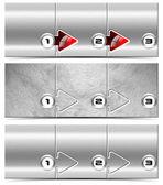 Next Step - Set of Metallic Headers — Stock Photo