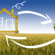 Ecologic House in the Countryside — Stock Photo