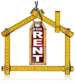 House For Rent - Wood Meter Tool — Stok fotoğraf