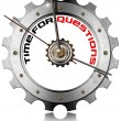Stock Photo: Time for Questions - Metallic Gear