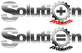 Solution and Problems Metal Gear — Stock Photo