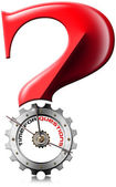 Time for Questions - Question Mark Metallic Gear — Stock Photo