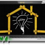 projeto de casa - ferramenta portátil e medidor — Foto Stock