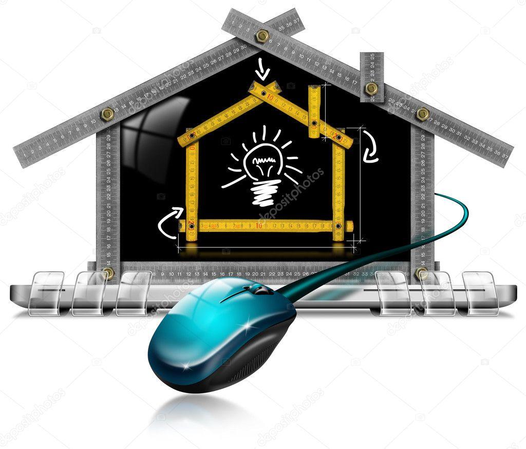 Huis project computer meter gereedschap stockfoto catalby 27399289 - Scherm huis ...