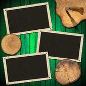 Marco de fotos madera — Foto de Stock