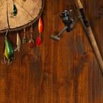 Fishing Tackle Background — Stock Photo