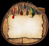 Fishing Tackle Background - Trunk — Stock Photo