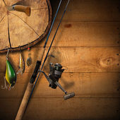 Fishing Tackle Background — Stock Photo