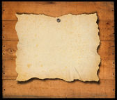 Old Empty Paper on old Wooden Boards — Stock Photo