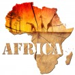 AfricMap Wooden Illustration — Foto Stock #28500275