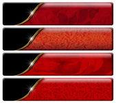 四个豪华标头与剪切路径 — 图库照片