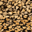 Stock Photo: Pile of Chopped Firewood