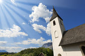 Small Mountain Church - Oberschütt Austria — Stock Photo