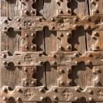 Antique Wooden Background - Church Door — Stock Photo #32635911