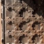 Antique Wooden Background - Church Door — Stock Photo