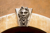 Grotesque Mask on an Old Arch Keystone - Verona Italy — Stock Photo