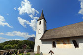 Small Gothic Church, Oberschütt Austria — Stock fotografie