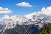 Julian Alps and Mount Mangart, Friuli Italy — Stock Photo