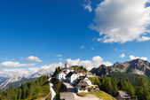 Panoramic View of Monte Lussari - Friuli Italy — Stock Photo
