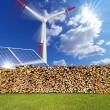 Renewable Energies Concept — Stock Photo