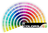 Paleta barev pantone - půlkruh — Stock fotografie