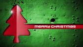Red Christmas Tree on Grunge Background — Stock Photo