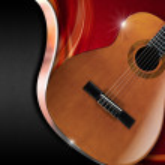 Acoustic Guitar on Luxury Background — Stock Photo