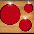 Christmas Balls - Old Wooden Boards — Stock Photo