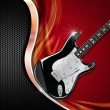 Electric Guitar on Luxury Background — Stock Photo