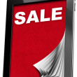 Sale - Tablet computer with Pages — Stock Photo