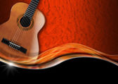 Acoustic Guitar on Luxury Background — Foto de Stock