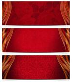 Tres banderas de lujo — Foto de Stock
