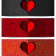 Three Romantic Banners — Foto Stock