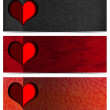 Three Romantic Banners — Stok Fotoğraf #34830105