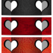 Three Romantic Banners — Stok Fotoğraf #34834079
