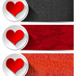 Three Love Banners — Stock Photo