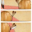 Set of Cooking Banners — Stock Photo