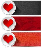 Three Love Banners — Stock Photo
