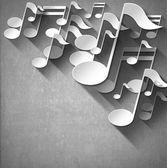 Music Note Background - White Velvet — Stock Photo