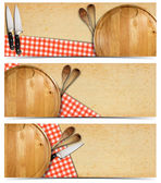 Set of Cooking Banners — ストック写真